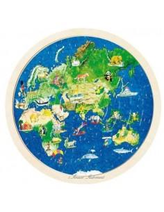 Puzzle du monde réversible