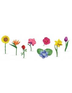8 figurines fleurs