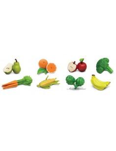 8 figurines fruits et légumes