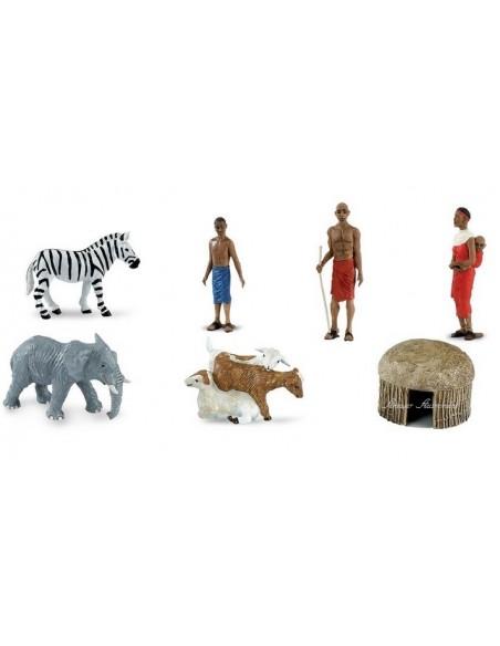7 figurines Afrique