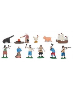 12 figurines colons d'Amériques