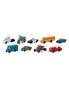 9 figurines véhicules