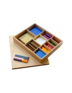 Réglettes bois couleurs Montessori