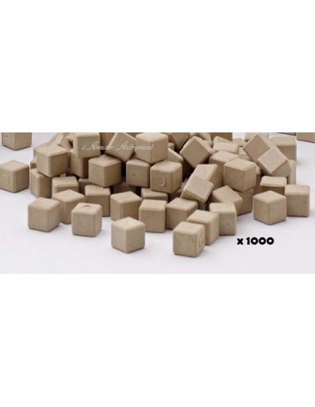 1000 cubes unités en bois naturel base 10