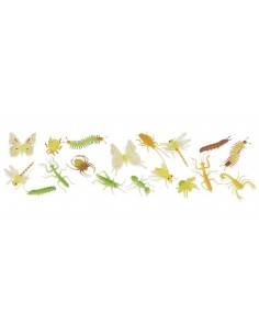 18 figurines insectes brillants