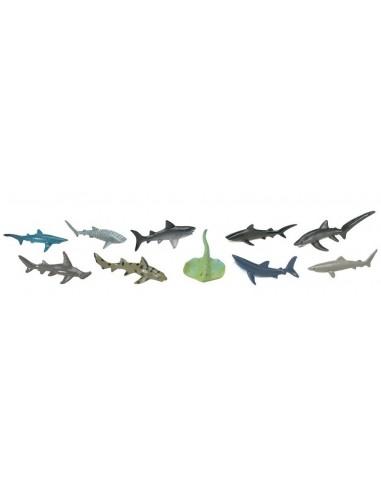 10 figurines Requins