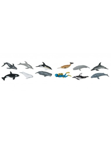 12 figurines Baleines et Dauphins