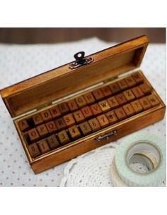 Tampons coffret écriture en bois