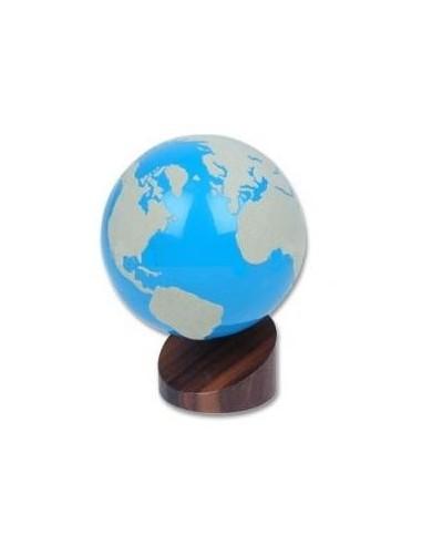 Globe rugueux Terres et Mers blanc