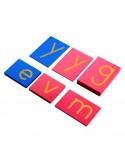 Lettres rugueuses minuscules d'imprimerie