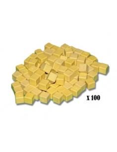 100 cubes unités jaunes