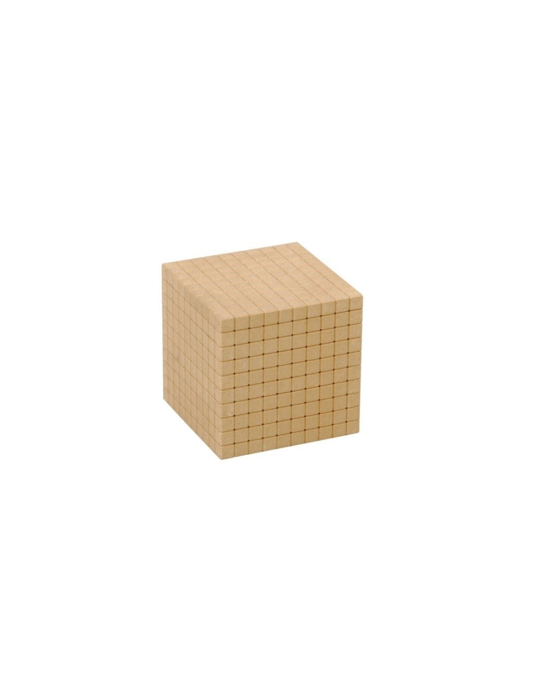 cube de 1000 base 10 en bois naturel montessori s 39 amuser autrement. Black Bedroom Furniture Sets. Home Design Ideas