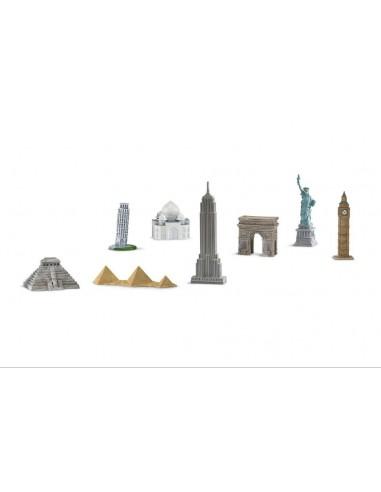 8 figurines monuments monde 2