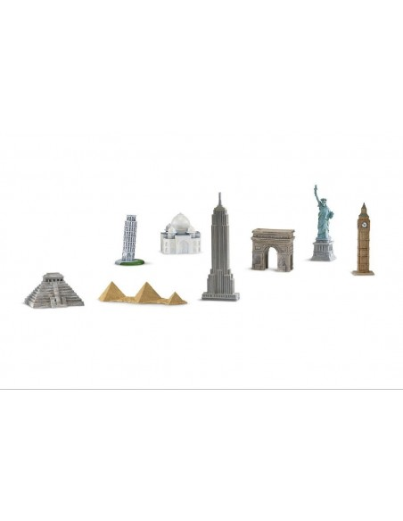 8 figurines monuments monde 2