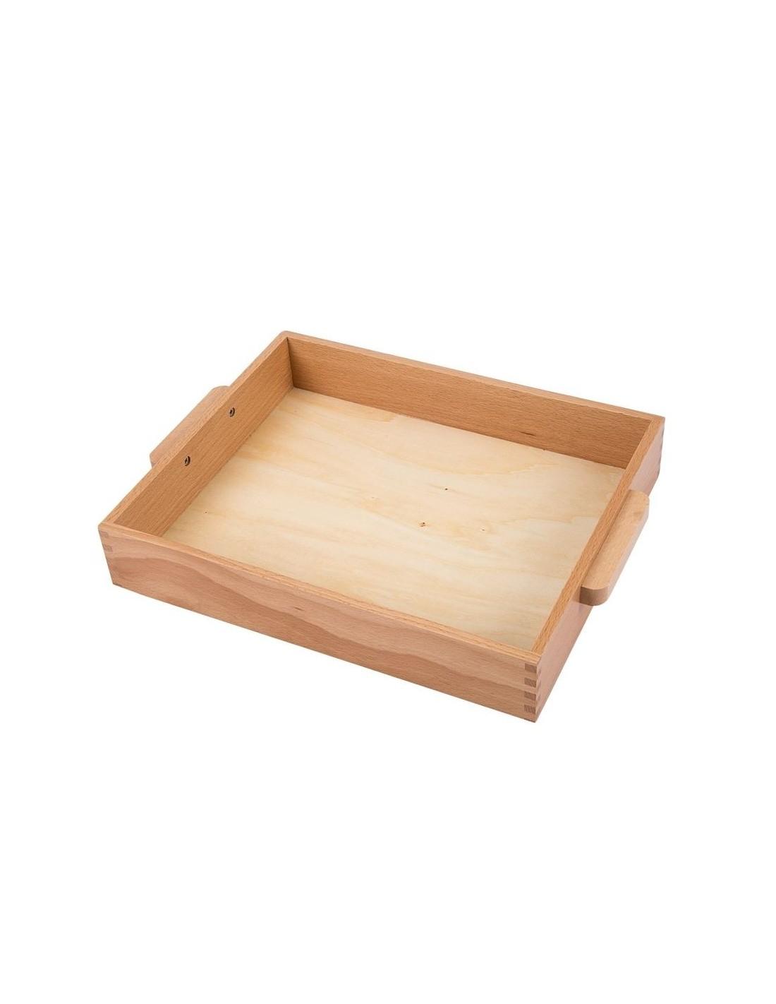 petit plateau avec poign es montessori s 39 amuser autrement. Black Bedroom Furniture Sets. Home Design Ideas