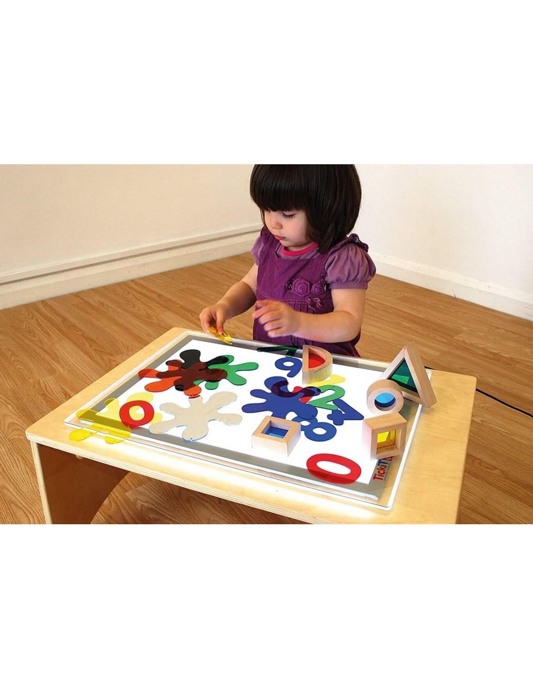 plaque lumineuse led a3 montessori s 39 amuser autrement. Black Bedroom Furniture Sets. Home Design Ideas