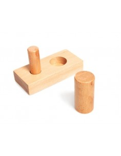 Encastrement deux cylindres bois