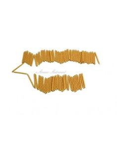Chaine de 1000 perles dorées