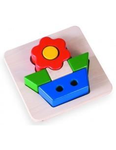 Puzzle relief fleur