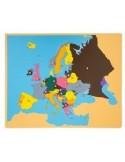 Carte puzzle de l'Europe haut de gamme