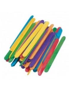 Bâtonnets bois colorés, petit modèle
