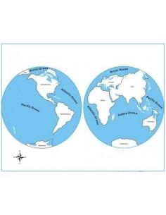 Carte controle planisphère