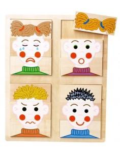 Puzzle visages , les émotions