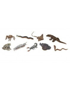 9 figurines Créatures venimeuses