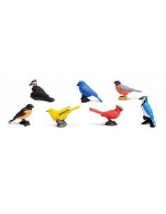 7 figurines Oiseaux de jardin
