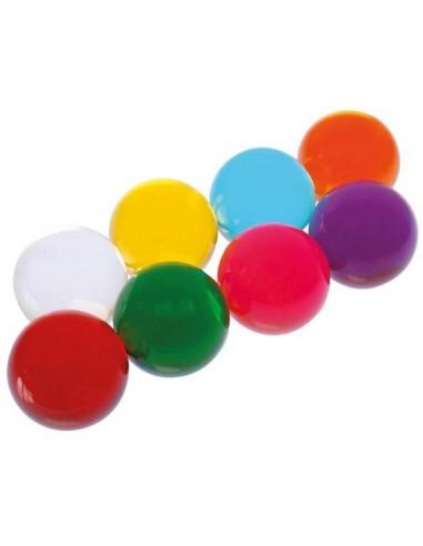 Sphères transparentes colorées