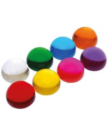 Demi-sphères transparentes colorées