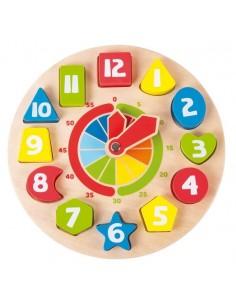 Horloge éducatives avec formes