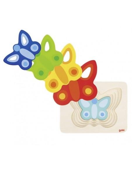Puzzle à couches, Papillons