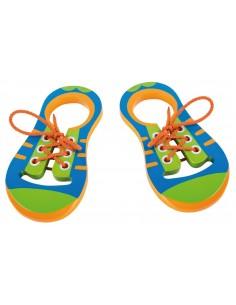 Chaussures à lacer en bois
