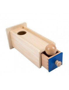 Permanence de l'objet avec tiroir et balle en bois
