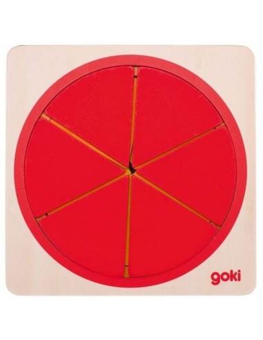 Fractions de cercle en bois