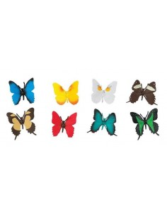 8 Figurines Papillons