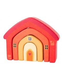 Maison puzzle orange