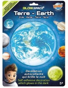 Planète Terre phosphorescente