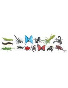 14 figurines insectes