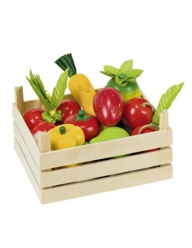 Cagette de fruits et légumes en bois