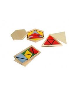 Triangles constructeurs colorés 3 boites