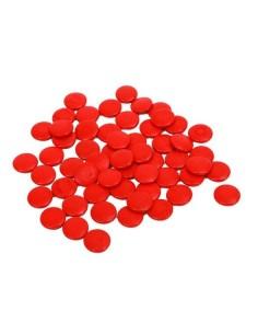 Lot de 55 jetons rouges