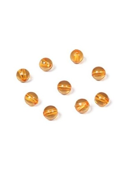Lot de 9 perles dorées (orange)