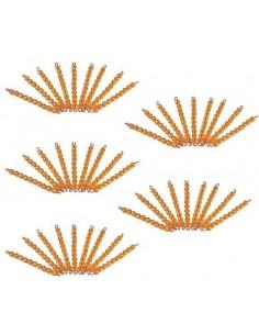 45 barres de 10 perles dorées (orange)