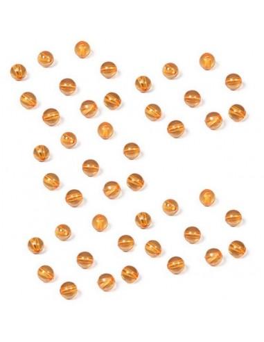 Lot de 9 perles dorées (orange)