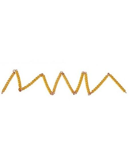 Chaine de 100 perles dorées (orange)