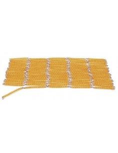 Chaine de 1000 perles dorées (orange)