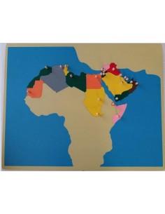 Carte Puzzle du Maghreb et Péninsule Arabique haut de gamme