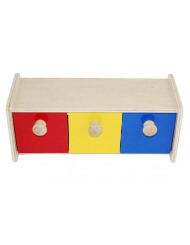 Boite 3 Tiroirs Basculants Montessori S Amuser Autrement